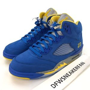 Air Jordan Retro 5 Laney Blue Basketball Shoes